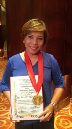 "DZBB anchor Susan Enriquez was named ""Best Female Radio Anchor"" at this year's Gawad Tanglaw Awards"