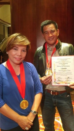 "GMA News TV_s I Juander was hailed as ""Best Magazine Show"". Hosts Susan Enriquez and Cesar Apolinario accepted the award"
