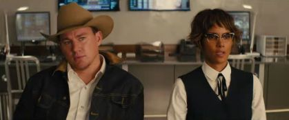 channing tatum and halle berry in KINGSMAN THE GOLDEN CIRCLE