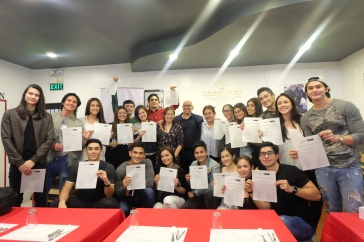 The Bova scholars received their certificates after the 3 day acting workshop