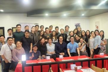 The Bova scholars with the Ana Feleo, Anthony Bova and Artist Cneter's Talent Development Team