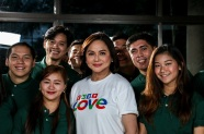 ABS-CBN chief content officer Charo Santos-Concio and other ABS-CBN executives join the station ID