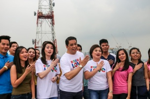 ANC anchors Cathy Yang, Tony Velasquez, and Lynda Jumilla join in inspiring Pinoys to just LOVE