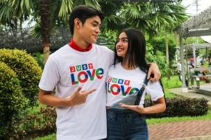 Grae Fernandez and Andrea Brillantes in the justLOVE station ID