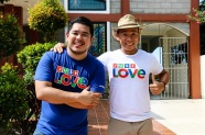 Red Alert anchor Jeff Canoy and Matanglawin host Kuya Kim join the Just Love Christmas Station ID