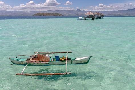 74434494 - beautiful beach sand bar at dumaguete, philippines