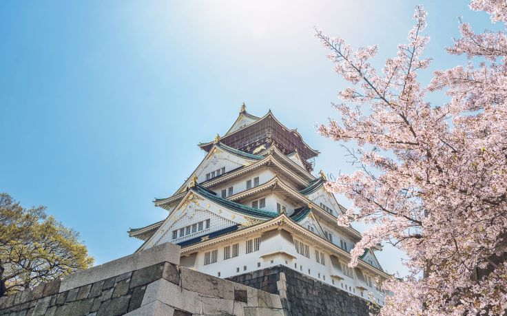 77392033 - spring scenery of osaka castle