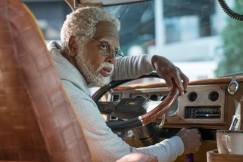 """Kyrie Irving as """"Uncle Drew"""" in UNCLE DREW. Photo by Quantrell Colbert."""