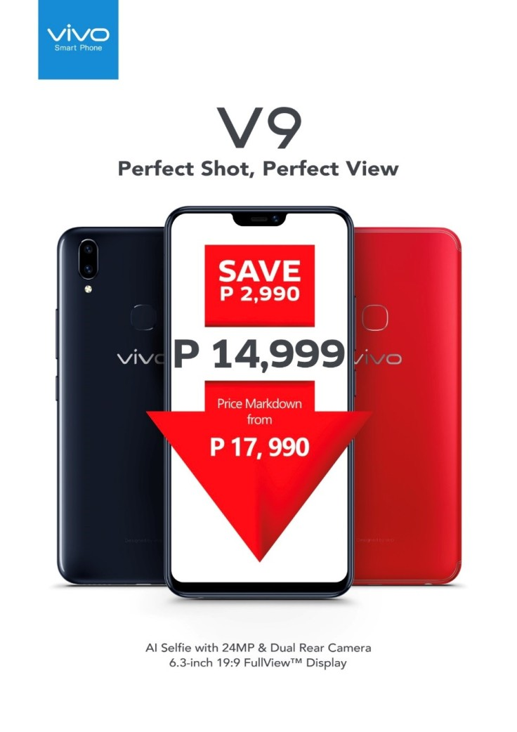 Vivo V9 Price Markdown