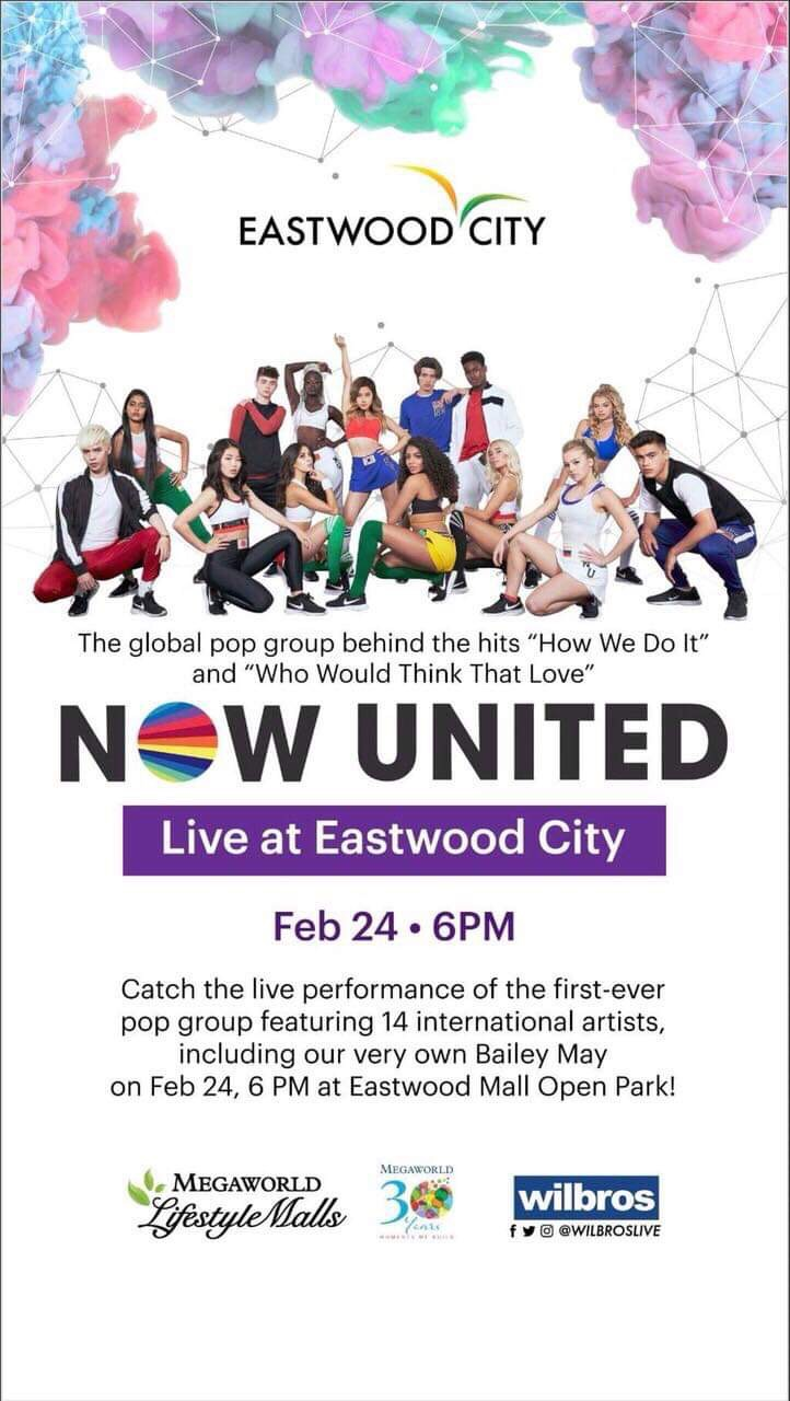 NOW UNITED EVENT POSTER