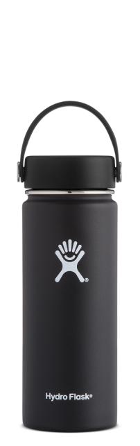 Hydro-Flask-18-oz-Wide-Mouth-Black