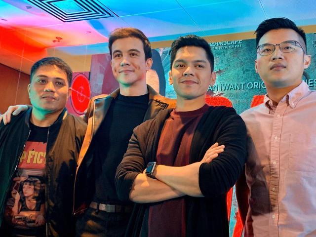 Director Shugo Praico, Arjo Atayde, Carlo Aquino, producer Philip King (1)