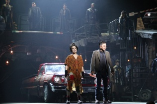 Sweeney Todd_Lea Salonga and Jett Pangan_car_photo credit Atlantis Theatrical Entertainment Group