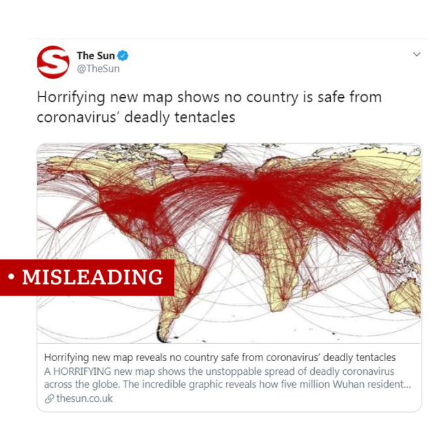 Fake news example clipping