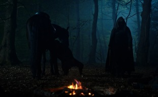 CURSED (L TO R) DANIEL SHARMAN as THE WEEPING MONK in episode 102 of CURSED Cr. Netflix © 2020