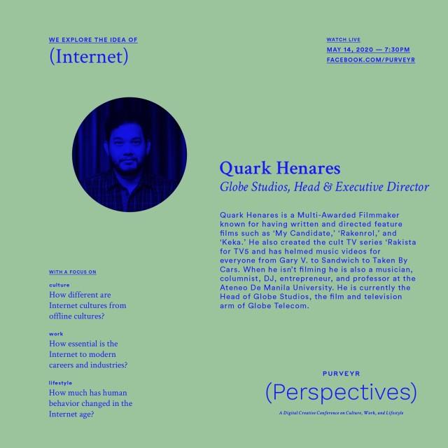 Quark Henares for Purveyr Perspectives